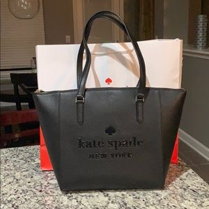 NWT Authentic Kate Spade Large Black Tote Bag